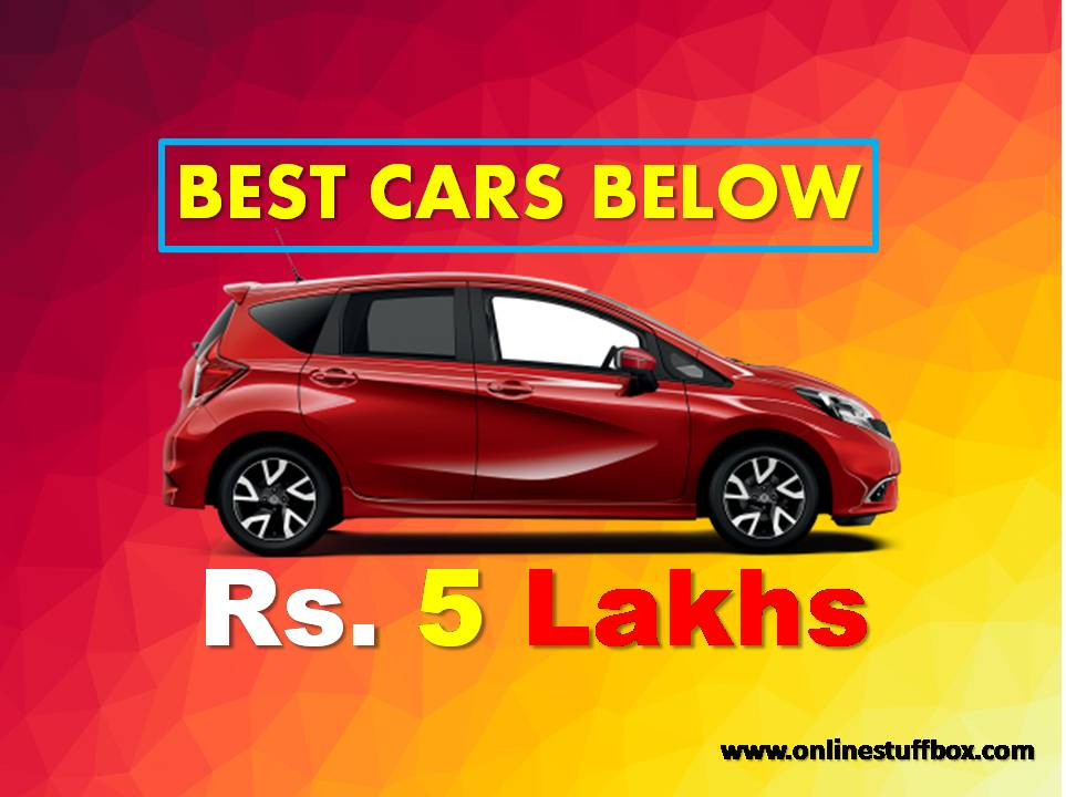 Best Cars Under 5 Lakhs