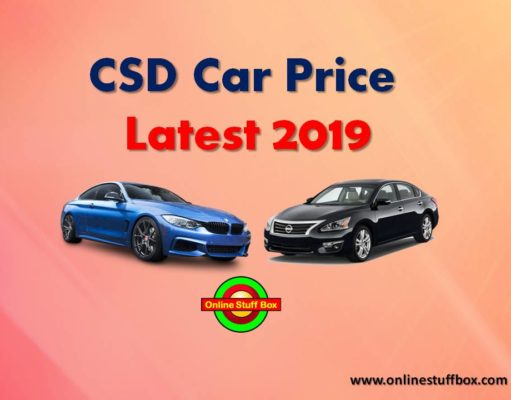 CSD Car Price in 2019