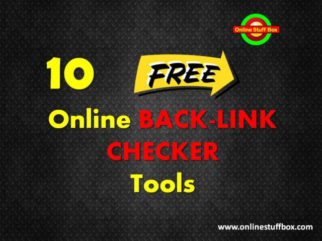Top 10 free Online Backlink Checker Tools