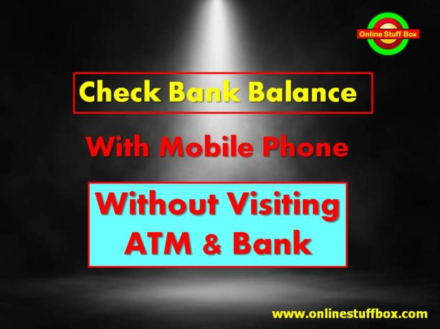 Bank Balance check in 30 seconds